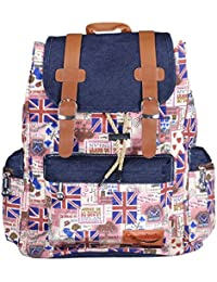 Webhin Women And Girl's Multi Colour Canvas BackPack, Casual BackPack