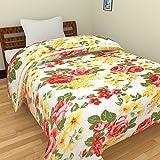 SS SALES Microfiber Yellow Multi Flower Print Double Bed Dohar/AC Blanket