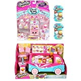 Bundle 4 Items: Shopkins Special Edition Glitzi Ice Cream Truck, Cool And Creamy Deluxe Playset, And 2 Baskets