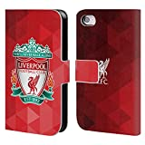 Official Liverpool FC LFC Red Geometric 1 LFC Crest 1 Leather Book Wallet Case Cover for Apple iPhone 4 / 4S