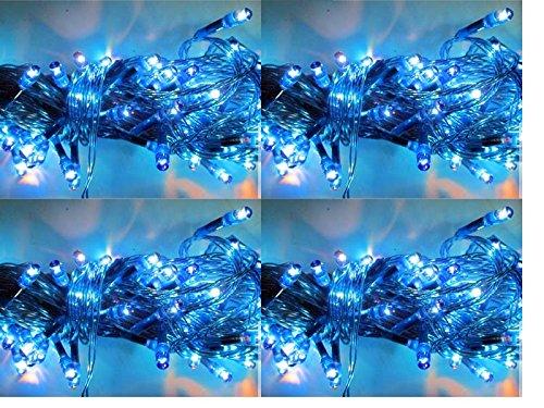 ASCENSION Set Of 4 Rice Lights Serial Bulbs Decoration Lighting For Diwali Christmas (BLUE)