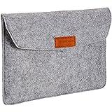 AmazonBasics NC1506105R2 11-inch Felt Laptop Sleeve (Light Grey)