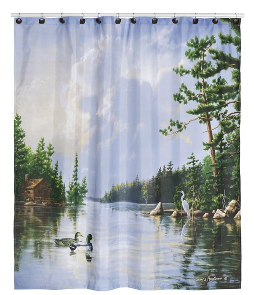 Hautman Brothers Lakeside Nature Shower Curtain