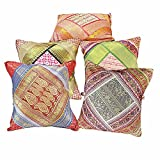 Jaipur RagaRajasthani Brocade Design Cushion Cover Set Cotton Cushion Cover