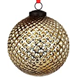 EarthenMetal Handcrafted Golden Coloured Christmas Decoratives / Glass Hanging Ball