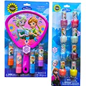 Disney Frozen Anna And Elsa Lip Shine With Hand Mirror And Disney Frozen Nail Polish Disney Frozen Cosmetic Gift...