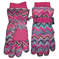 Nice Caps Thinsulate Waterproof Zig Zag Ski Glove (2-4 years)