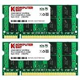 Galleria fotografica Komputerbay 4GB 2X 2GB DDR2 533MHz PC2-4200 PC2-4300 533 (200 PIN) SODIMM memoria del computer portatile