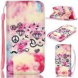 6S Plus Case,iPhone 6S Plus Case,With Strap Wristlet Slim PU Leather Case Wallet Cases Magnetic Closure Case For... - B019C3GUI6