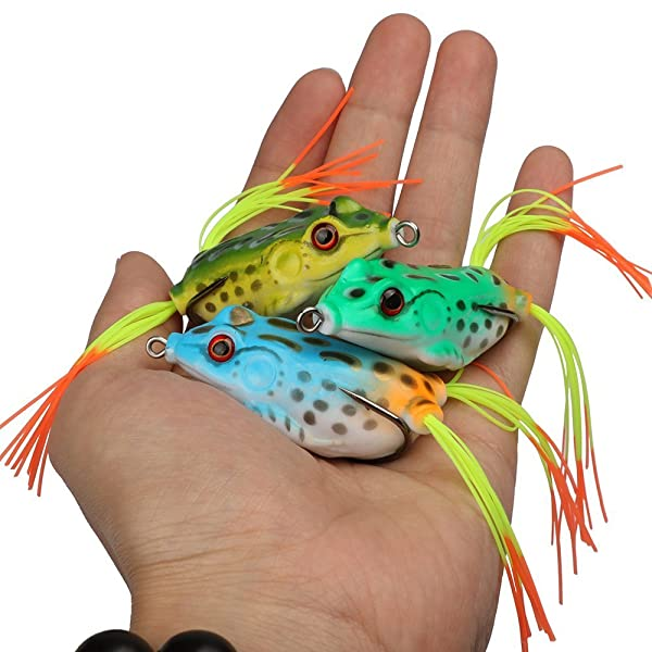 Goture Topwater Frog Lure Kit Set Lots, Especially For Bass Snakehead,Freshwater Saltwater Soft Bait