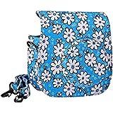 Clover CPT024-BL Lovely Flower Denim Fabric Camera Bag Case With Shoulder Strap For Fujifilm Instax Mini 8 Fuji...