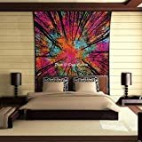 Stylo Culture Forest Tree Mandala Tapestry Cotton Multi Color Twin Printed Psychedelic Wall Hanging