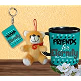 Gift For Friend & Friendship Day Gift Set Of Coffee Mug Keychain And Teddy Design 2