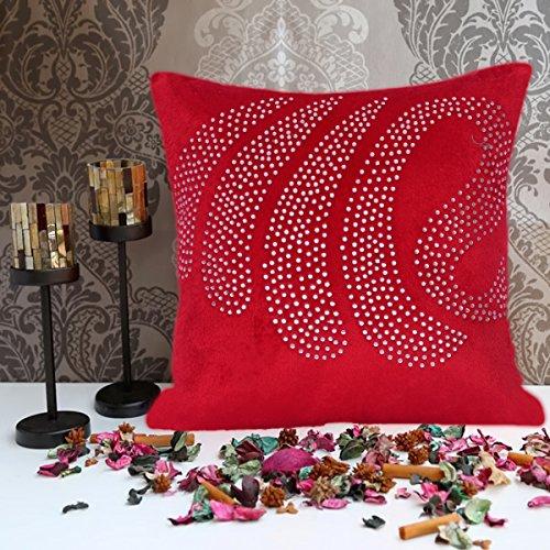 Cushion Casa Cushion Covers (Red) - B00NMC94SC