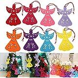 Alcoa Prime 12Pcs Christmas Tree Hanging Ornament Party Decor Non Woven Fabric Angel Shape Window For Xmas Carnival...