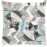 Snoogg Abstract Math Cushion Cover Throw Pillows 16 X 16 Inch