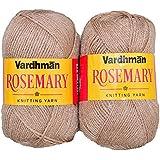 Vardhman Knitting Wool, Pack Of 2 (Dark Skin) Rosemary (400 Gm)