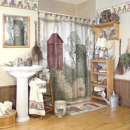 Fun Outhouse Themed Bathroom Decor XpressionPortal