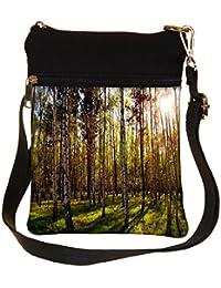 Snoogg Clean Forest Cross Body Tote Bag / Shoulder Sling Carry Bag