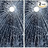Avery C142 Broken Glass CORNHOLE LAMINATED DECAL WRAP SET Decals Board Boards Vinyl Sticker Stickers Bean Bag Game Wraps Vinyl Graphic Tint Image Corn Hole