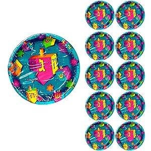 Dreidel Party Paper Plates