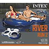 Intex River Run II Sport Lounge, Inflatable Water Float, 95.5