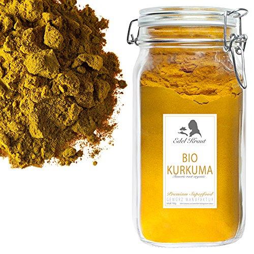 EDEL KRAUT | BIO KURKUMA WURZEL im Premium Glas - Organic turmeric root 750g