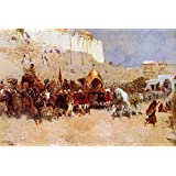 The Museum Outlet - Edwin Lord Weeks - Wedding Procession Jodhpur - Canvas Print Online (24 X 18 Inch)