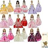 E-TING Lot 5 P 5x Fashion Handmade Clothes Dresses Grows Outfit For Barbie Doll+1 Denim Dress
