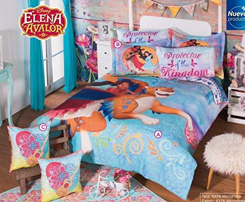 New Disney Collection Girls Princess Elena of Avalor Full-size bedding - 9 piece set 1 X Comforter 2 X Shams 2 X Decorative Toss Pillows 1 X Flat sheet 1 X Fitted Sheet 2 X Pillowcases
