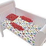 Fancy Fluff Premium Cot Bedsheet, Pillow & Bolster Set- ROBOT