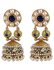 Agarwal Bentex Gold Plated Traditional Pearl Jhumki For Women