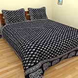 Jaipuri Bedsheet(cotton Hand Block Print Double Bedsheet With Two Pillow Cover) - (90 In X102 In)
