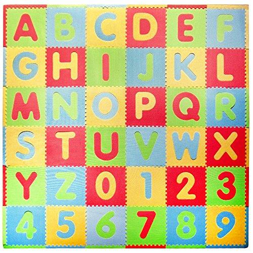 Tadpoles Playmat Set 36-Piece ABC, Multi/Modern
