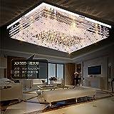 JJ Plafonnier LED moderne rectangulaire LED lumière atmosphère Crystal couloir, chambre à coucher, salon plafond lampes minimaliste moderne Lampes chaudes Remote 60* 40cm, 220-240V