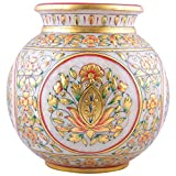 Gold Color Painted Marble Kalash