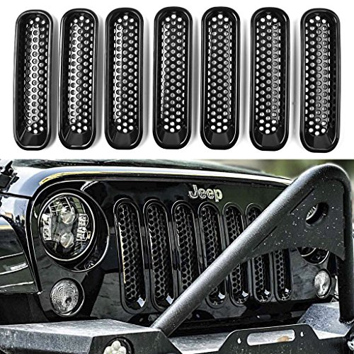 DEDC Jeep Grille Jeep Wrangler Mesh Grill Insert Jeep Grille Guard Front jk Grille Inserts For 2007-2015