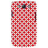For Samsung Galaxy S3 I9300 :: Samsung I9305 Galaxy S III :: Samsung Galaxy S III LTE Overlapping Chain Mail Circle Pattern ( Overlapping Chain Mail Circle Pattern, Modular Geometric Tessellating, Nice Pattern, Pattern, Red Pattern ) Printed Designer Back