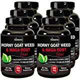 StBotanica Horny Goat Weed + Maca Root Extract 800mg 60 Veg Caps- Buy 3 Get 3 Free + Extra 25% Off