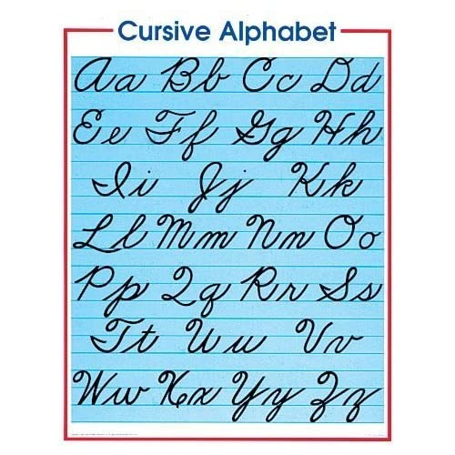 cursive letter chart navigating the trenches cursive writing review 231