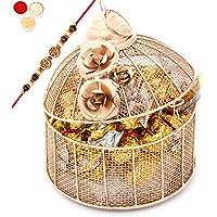 Rakhi Chocolates-Golden Cage With Roasted Almond Chocolates, 500 G