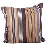 "Swadeshi Store Multi Color Stripe 100% Handwoven Cotton Cushion Cover - Multi Color (16""X16"") - B00NUT3H7G"