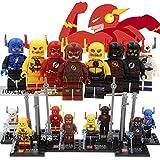 8pcs/lot Justice League Super Hero Flash Ray Velocity Minifigure Builidng Blocks