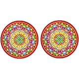 DollsofIndia Pair Of Rangoli Stickers - Dia - 9.25 Inches Each