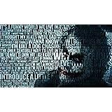 BATMAN QUOTES THE JOKER TYPOGRAPHIC PORTRAIT TYPOGRAPHY WALLPAPER ON FINE ART PAPER HD QUALITY WALLPAPER POSTER
