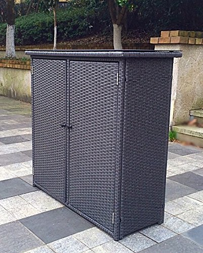 Pebble Lane Living Outdoor Rust Proof Wicker Storage Unit