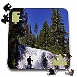 Danita Delimont - Hiking - Oregon, Three Sisters, Deschutes NF, hiker - US38 LEN0010 - Lisa S. Engelbrecht - 10x10 Inch Puzzle (pzl_93880_2)