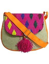 Stylocus - Ladies Sling Bag - Multi Colour Bag - Flapped Sling Bag