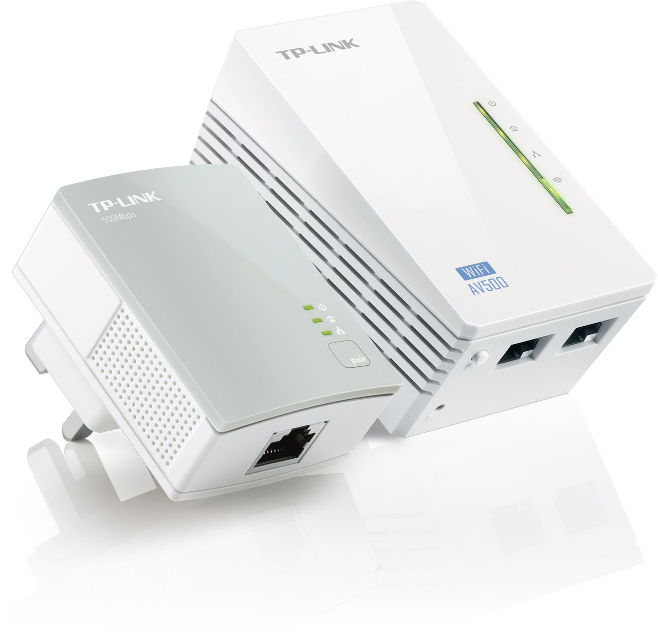 Image of the TP-Link TL-WPA4220KIT AV500 Powerline 300M Wi-Fi Booster/Extender with Two LAN Ports Kit