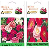 Alkarty Clarkia Mixed And Poppy Shirley Mixed Seeds Pack Of 20 (Winter)
